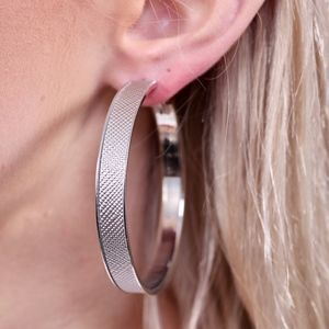 Jewelry - Leather Hoop Earring